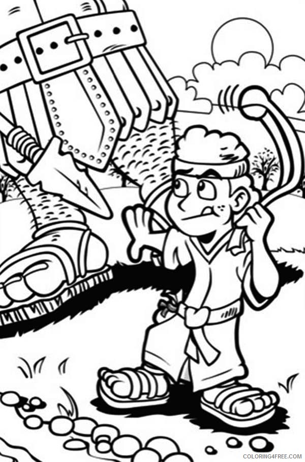 David And Goliath Coloring Pages For Kids Printable Coloring4free Coloring4free Com