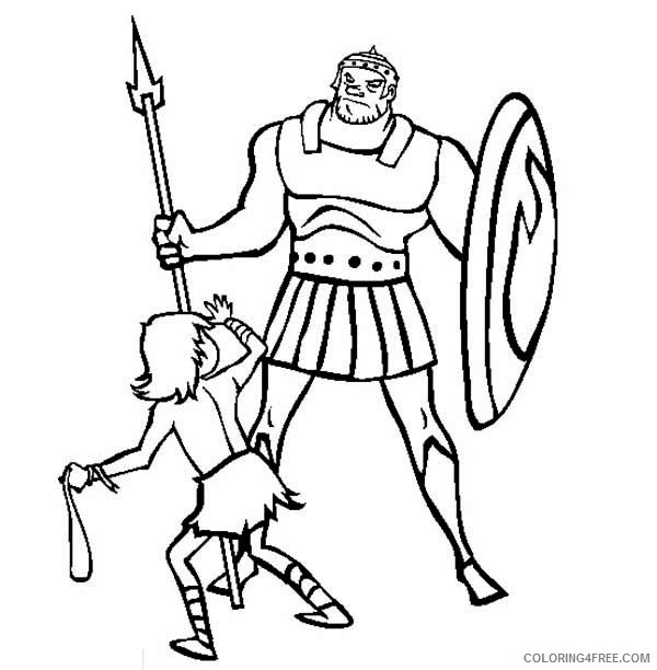 David and Goliath Coloring Pages - Best Coloring Pages For Kids | 612x600