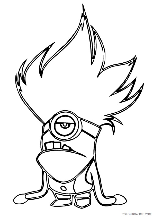 Despicable Me Coloring Pages Evil Minion Coloring4free - Coloring4Free.com