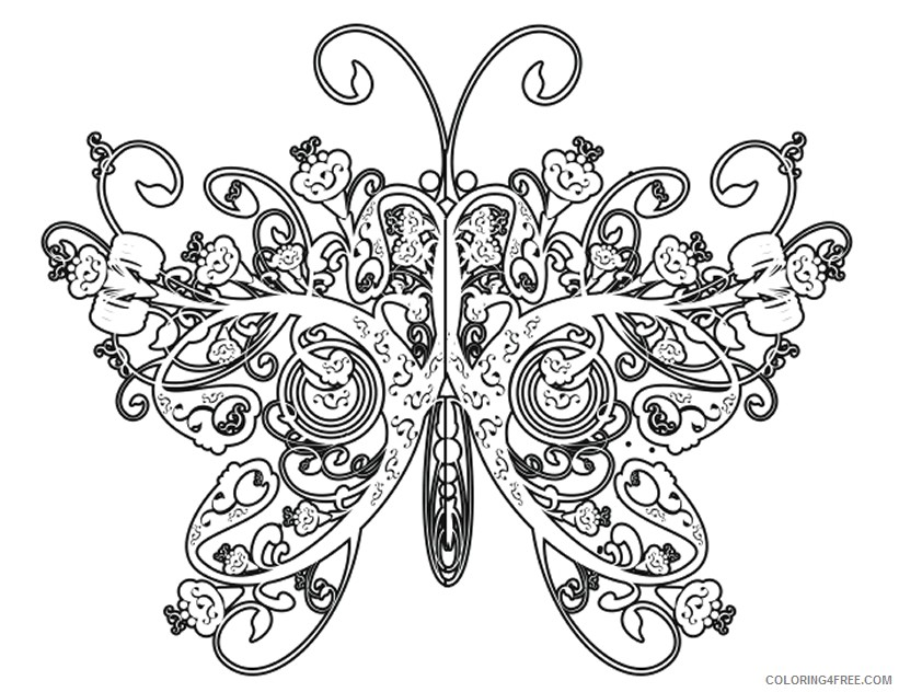 Difficult Adult Coloring Pages Coloring4free - Coloring4Free.com