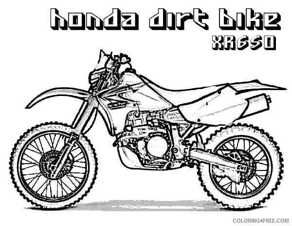 dirt bike coloring pages honda Coloring4free - Coloring4Free.com