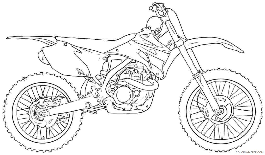 Dirt Bike Coloring Pages Motocross Coloring4free - Coloring4Free.com
