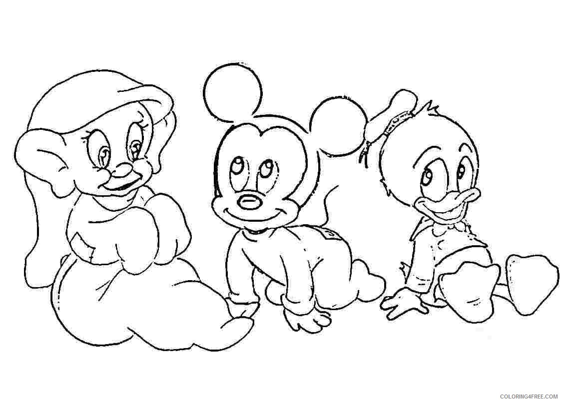 Disney Baby Coloring Pages For Kids Coloring4free Coloring4free Com