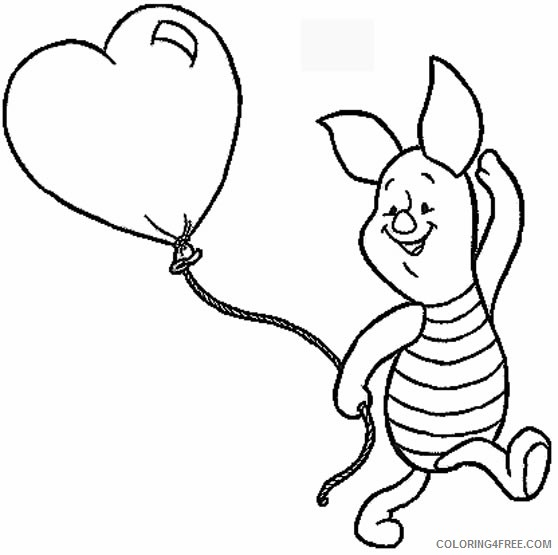 - Disney Characters Coloring Pages Piglet Coloring4free - Coloring4Free.com