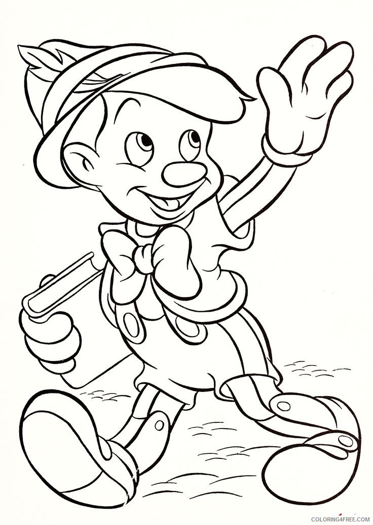 - Disney Characters Coloring Pages Pinocchio Coloring4free - Coloring4Free.com