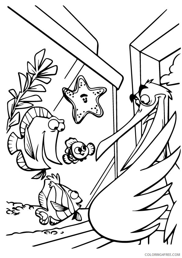 - Disney Finding Nemo Coloring Pages Coloring4free - Coloring4Free.com