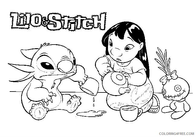 Lilo and stich to color for children - Lilo And Stich Kids ... | 452x648