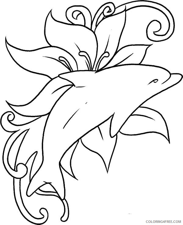 - Dolphin Coloring Pages Free To Print Coloring4free - Coloring4Free.com