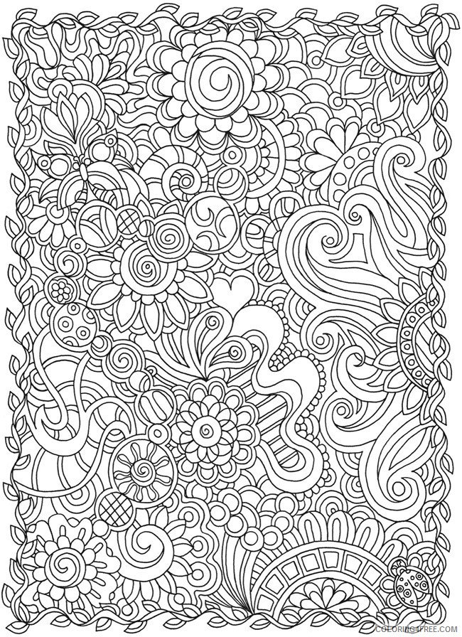 - Doodle Coloring Pages For Adults Printable Coloring4free - Coloring4Free.com