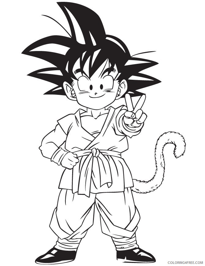 - Dragon Ball Z Coloring Pages Goku Kid Coloring4free - Coloring4Free.com