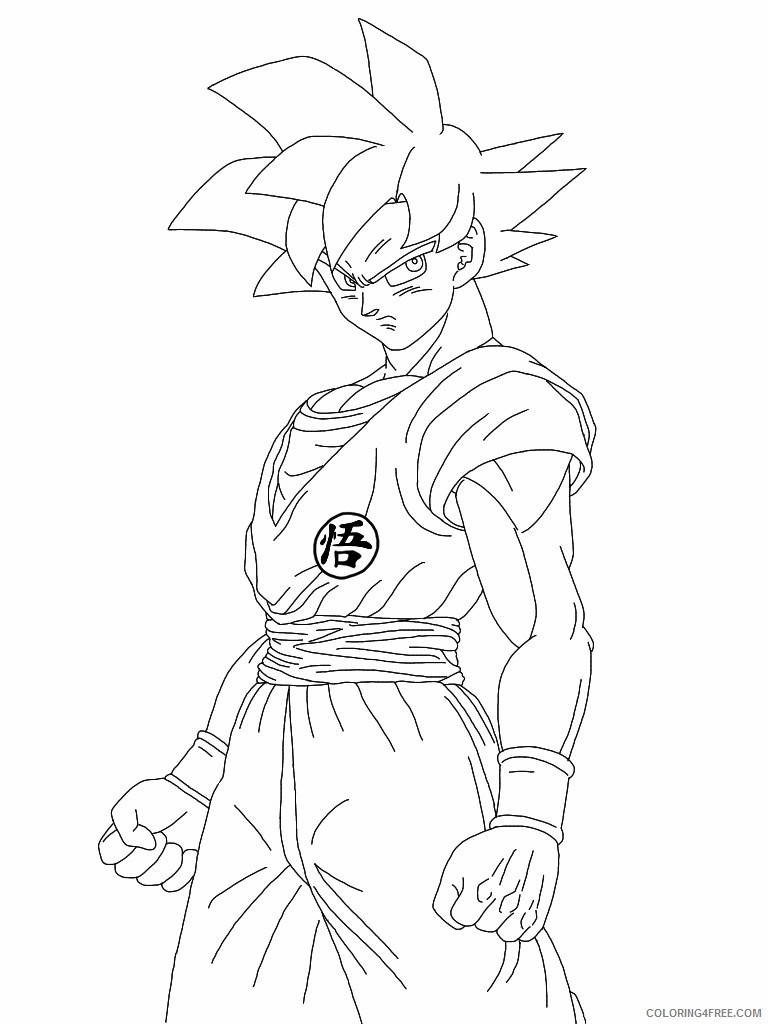 Dragon Ball Z Coloring Pages Goku Super Saiyan God Coloring4free Coloring4free Com