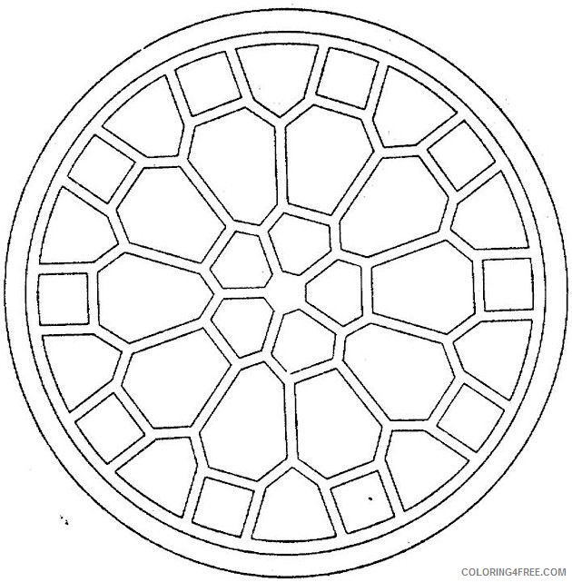 Easy Geometric Coloring Pages For Kids Coloring4free - Coloring4Free.com