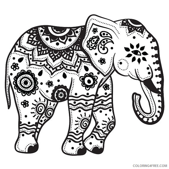 Cartoon Clipart Of A Black And White Republican Elephant ... | 570x570