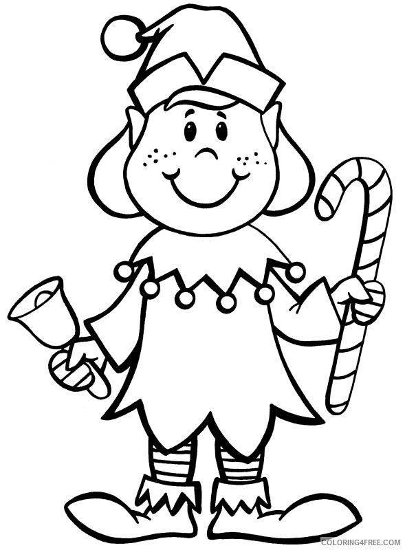 - Elf Coloring Pages In Christmas Coloring4free - Coloring4Free.com