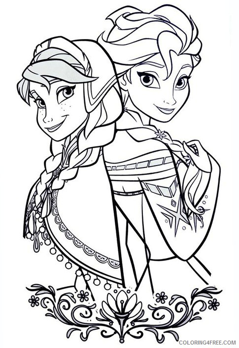 Elsa Anna Coloring Pages Printable Coloring4free Coloring4free Com