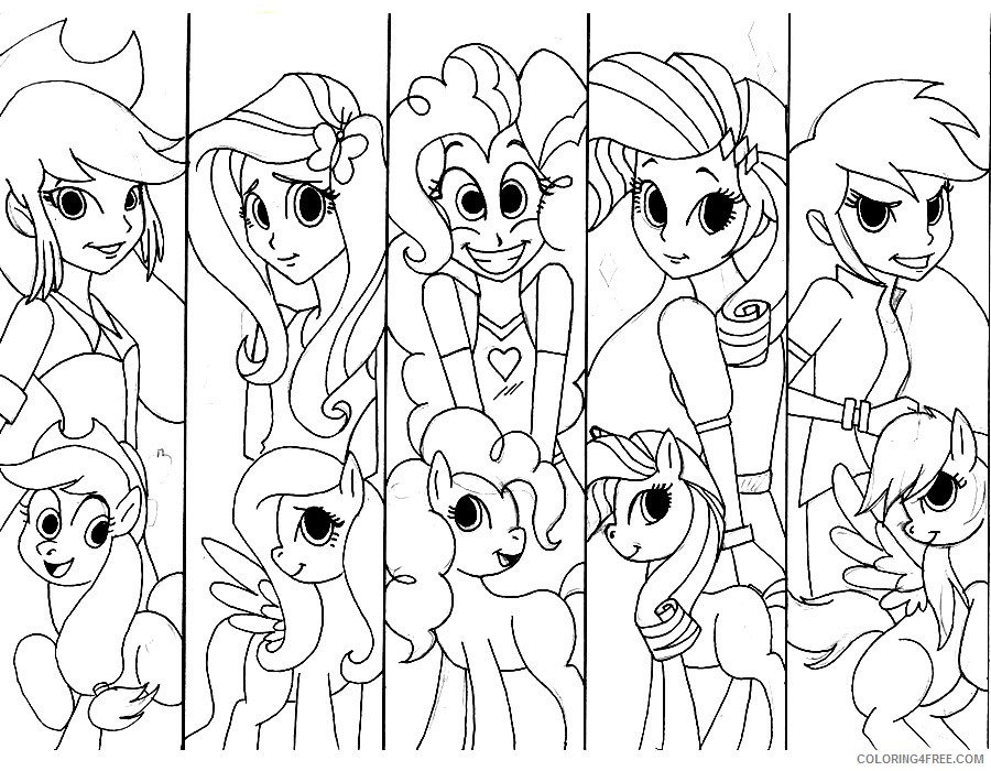 My Little Pony Girls Coloring