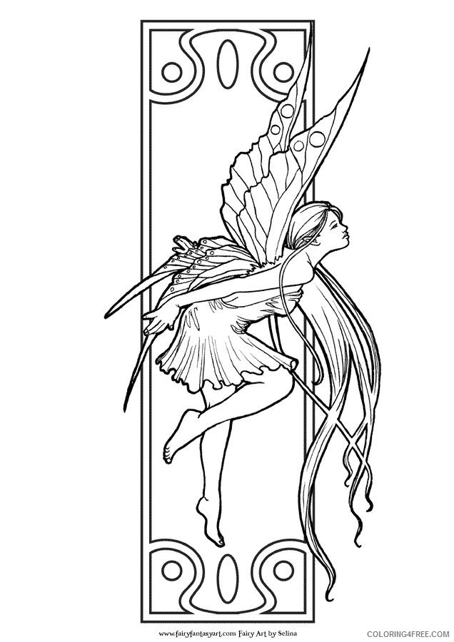 Fantasy Fairy Coloring Pages Printable Coloring4free Coloring4free Com