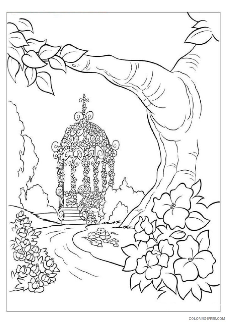 Fantasy Nature Coloring Pages Coloring4free - Coloring4Free.com