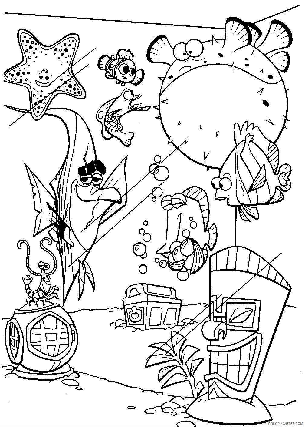 - Finding Nemo Coloring Pages Nemo And Fish Tank Gang Coloring4free