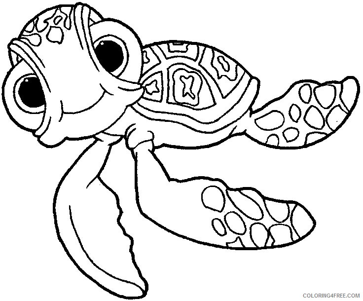 - Finding Nemo Coloring Pages Squirt Coloring4free - Coloring4Free.com