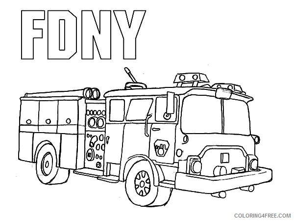 Fire Truck Coloring Pages For Kids Printable Coloring4free -  Coloring4Free.com
