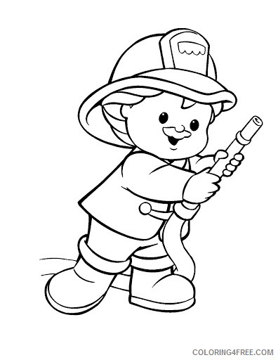 Firefighter Coloring Pages For Kids Coloring4free Coloring4free Com