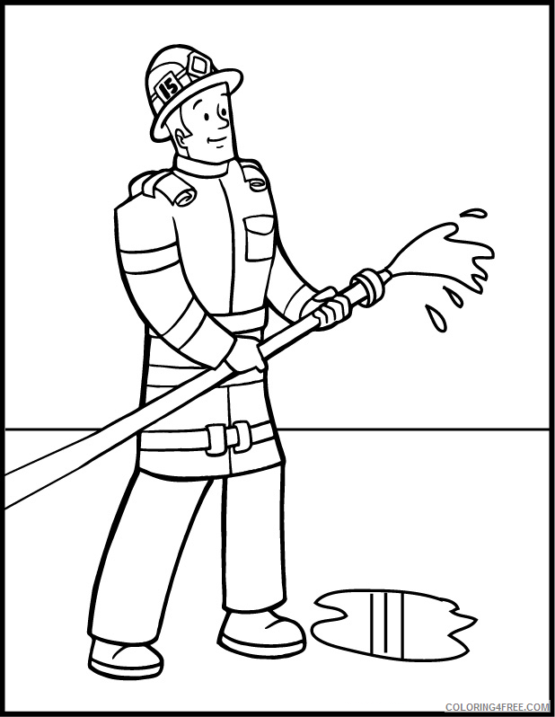 - Firefighter Coloring Pages Printable Coloring4free - Coloring4Free.com