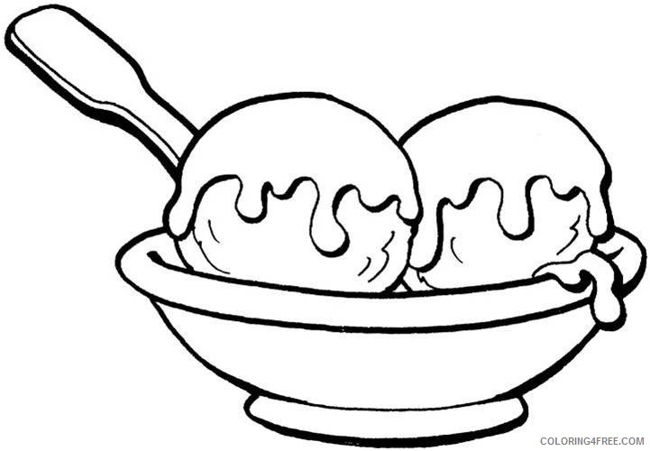 - Food Coloring Pages Ice Cream Coloring4free - Coloring4Free.com