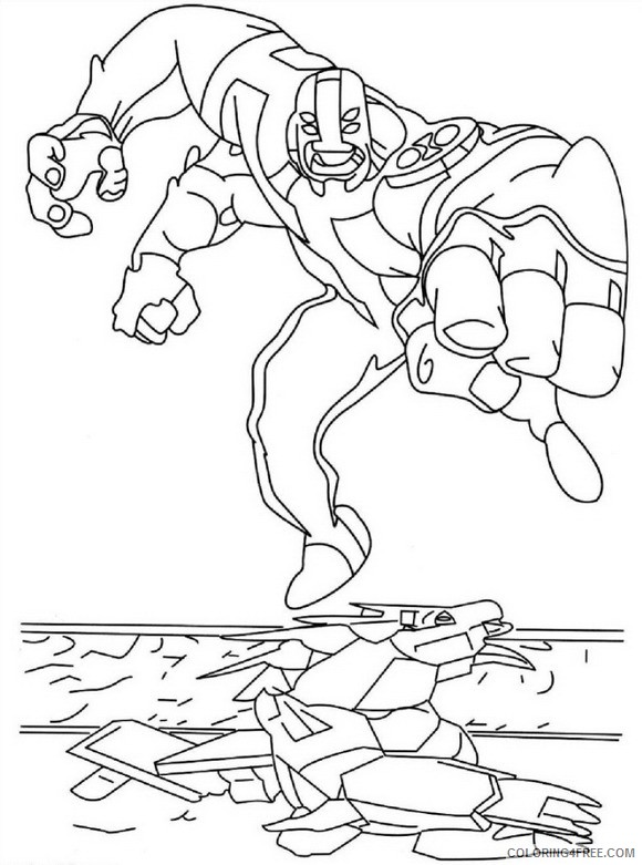 - Four Arms Ben 10 Coloring Pages Coloring4free - Coloring4Free.com