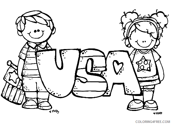 Free 4th Of July Coloring Pages For Kids Coloring4free - Coloring4Free.com