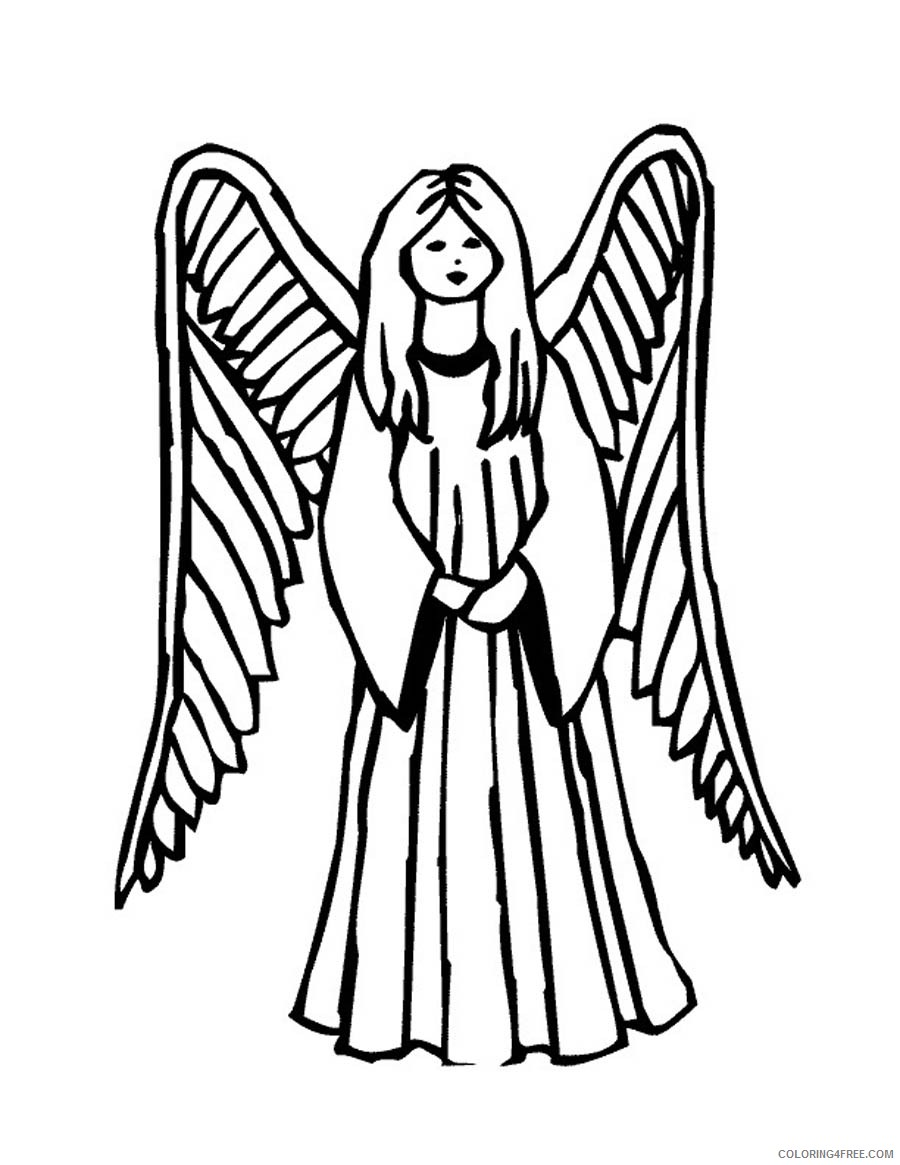 Bold Design Angel Coloring Pages Colouring For Adults Preschool To ... | 1165x900