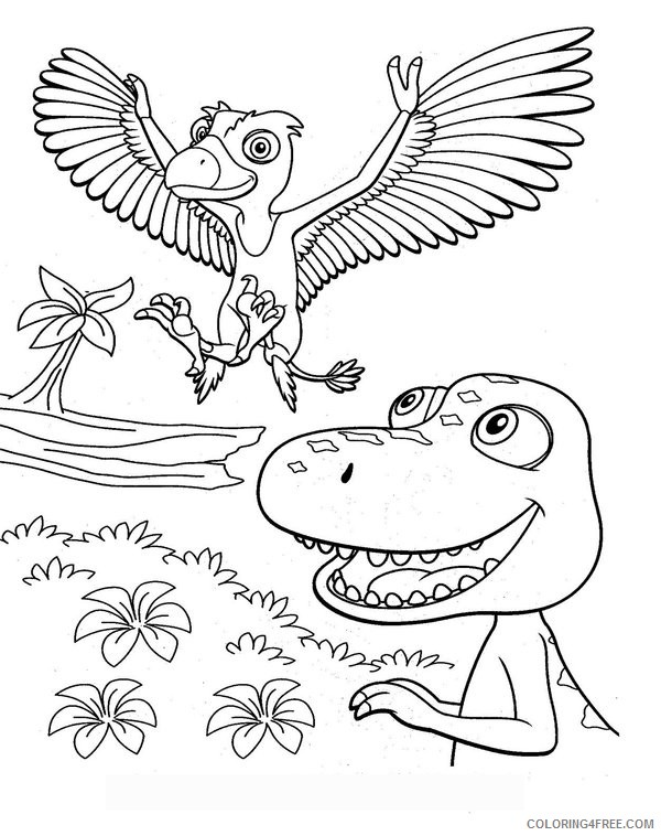 Dinosaur Train Coloring Pages - GetColoringPages.com | 758x600