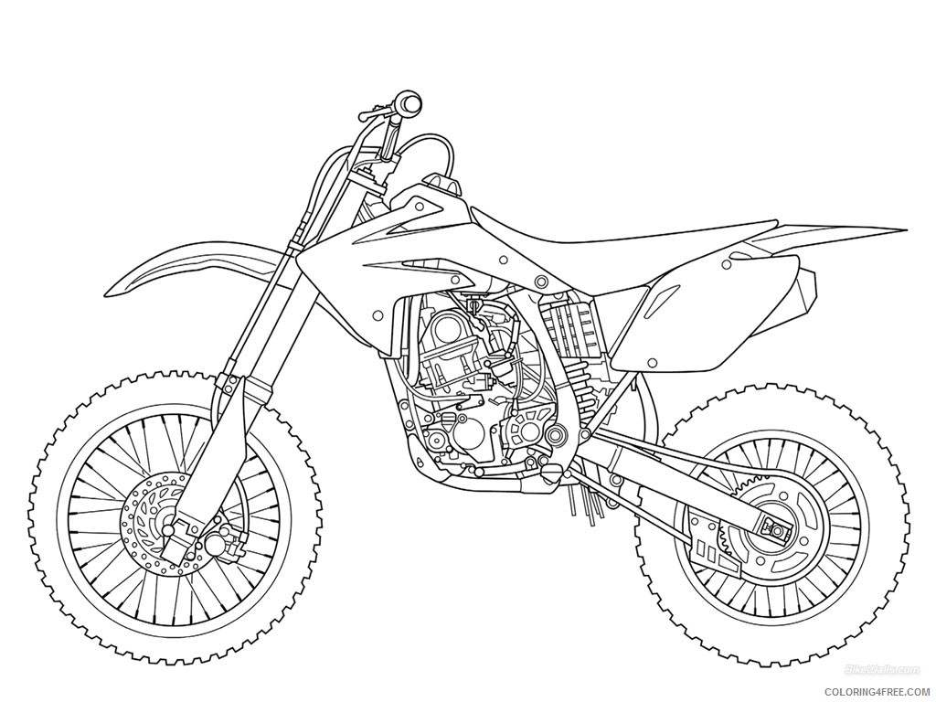 free dirt bike coloring pages to print Coloring4free ...