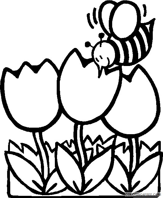 Free Flower Coloring Pages For Kids Coloring4free Coloring4free Com
