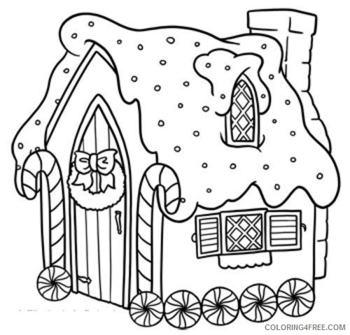 - Free Gingerbread House Coloring Pages For Kids Coloring4free -  Coloring4Free.com