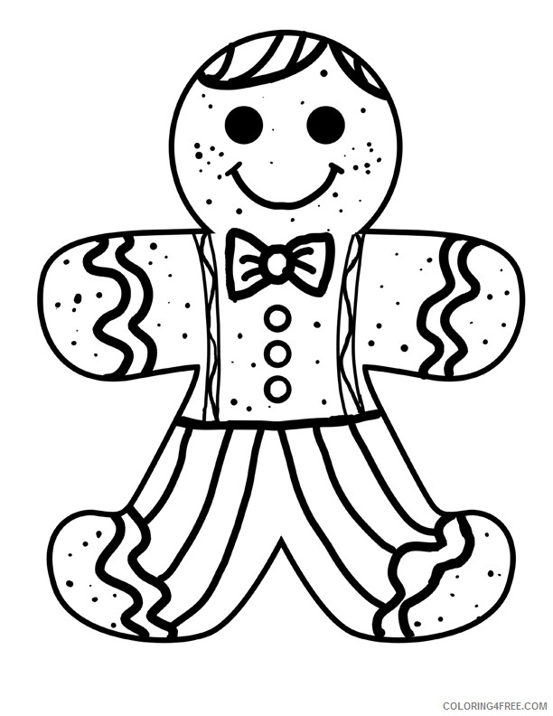 Gingerbread Man Coloring Page - Drawing - Free Transparent PNG ... | 792x612