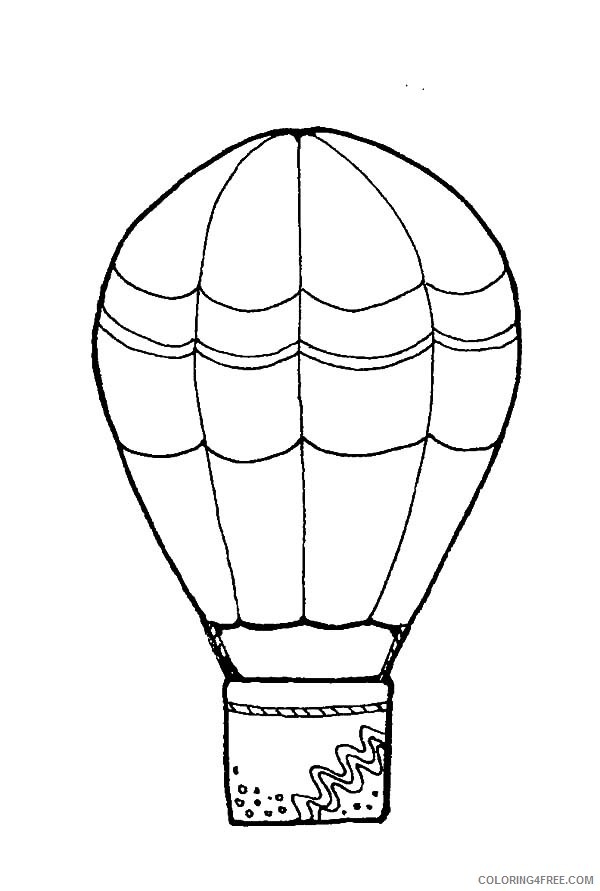 Free Hot Air Balloon Coloring Pages To Print Coloring4free -  Coloring4Free.com