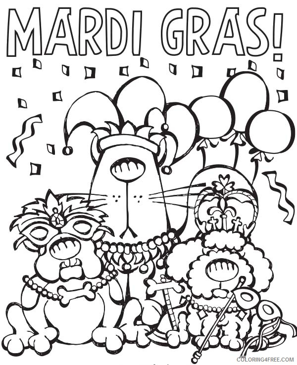 Free Mardi Gras Coloring Pages Printable Coloring4free Coloring4free Com