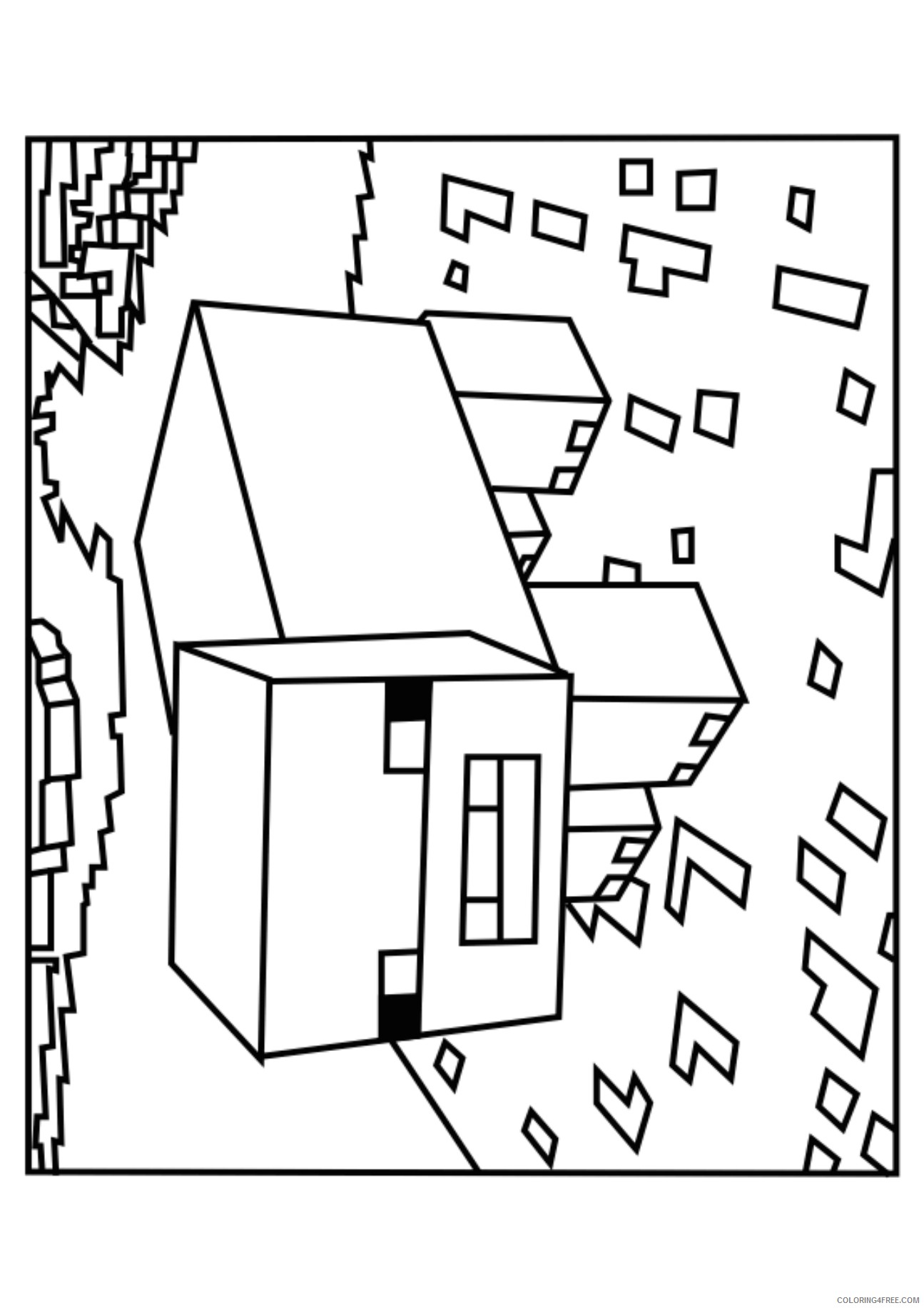 minecraft coloring pages wither skeleton and spider Coloring4free ... | 1832x1295