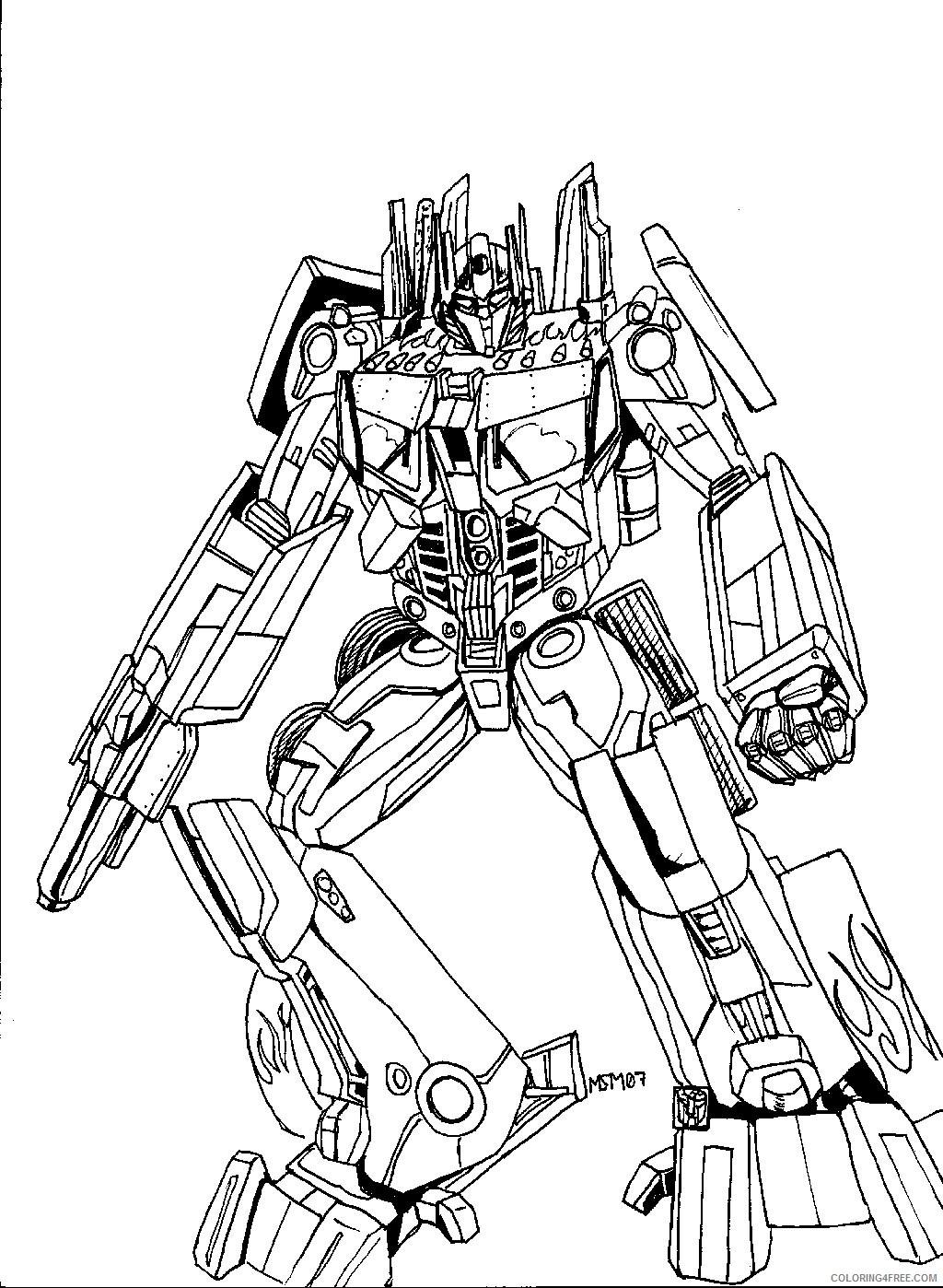 Jarvis Varnado: Optimus Prime Transformers Coloring Pages | 1398x1024