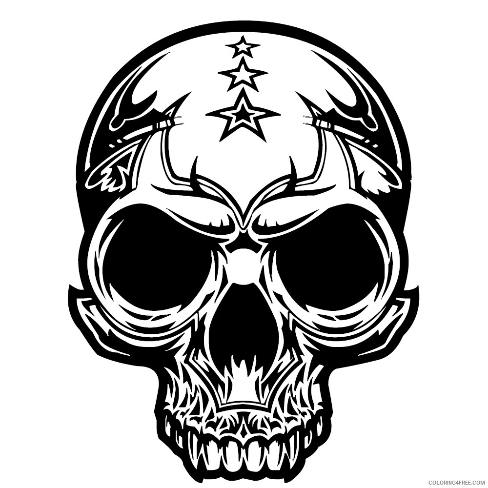 Free Skull Coloring Pages