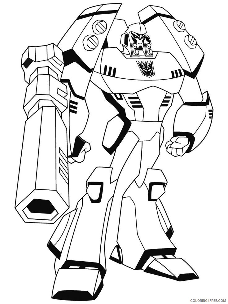 Free Transformer Coloring Pages To Print Coloring4free - Coloring4Free.com