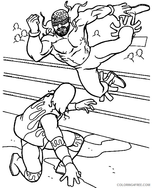 Free Wwe Coloring Pages For Kids Coloring4free - Coloring4Free.com
