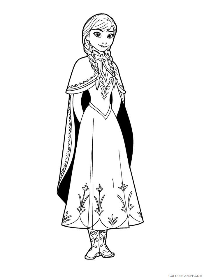 - Frozen Anna Coloring Pages Coloring4free - Coloring4Free.com