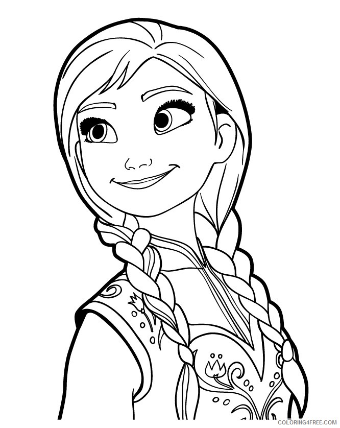 - Frozen Coloring Pages Anna Coloring4free - Coloring4Free.com