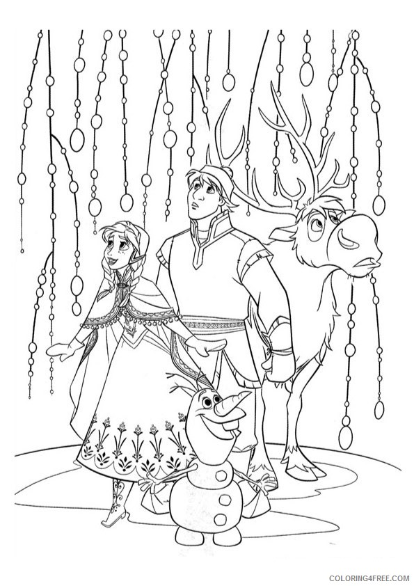 Frozen Coloring Pages Free To Print Coloring4free - Coloring4Free.com
