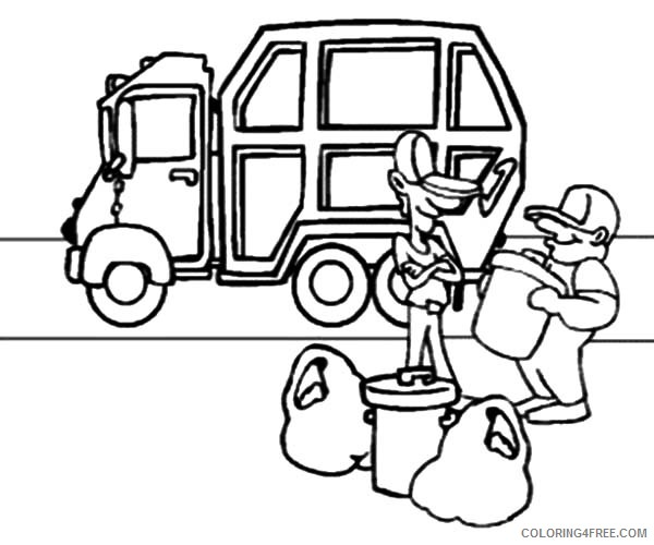- Garbage Truck Coloring Pages Coloring4free - Coloring4Free.com