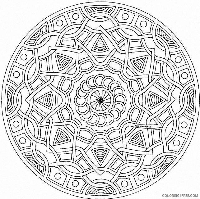 Geometric Mandala Coloring Pages Printable Coloring4free Coloring4free Com