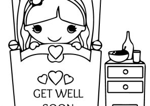 Get Well Soon Coloring Pages Coloring4free Com