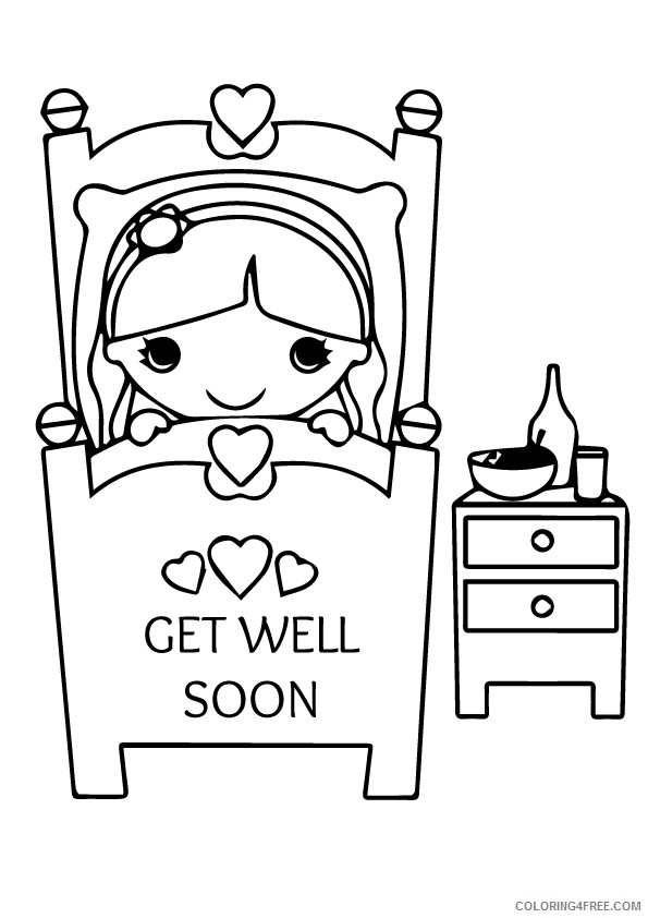 Printable Get Well Soon Coloring Pages Coloring4free Coloring4free Com